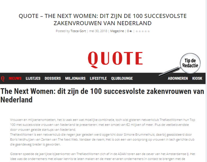 Quote- The next women